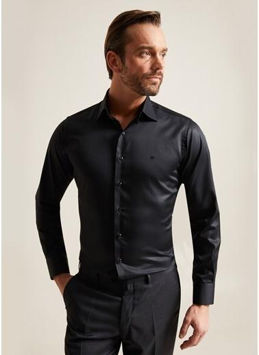 Bisse GM20K22174 Regular Fit Düz Klasik Gömlek Siyah